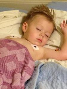 Ben is only two years old but started showing symptoms of Type 1