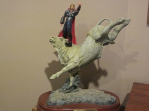 Thor rides Bodacious Original photo by P. Rickrode