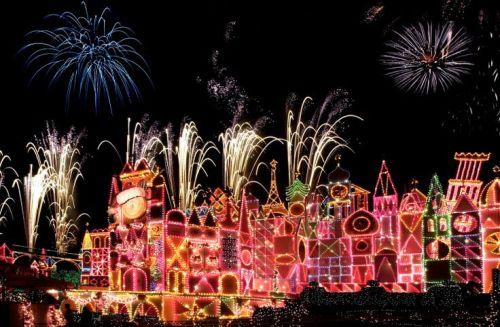 Disneyland's It's A Small World at Christmas. Photo courtesy Disney Parks Blog