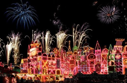 Disneyland's It's A Small World at Christmas. Photo courtesy Disney Parks Blog