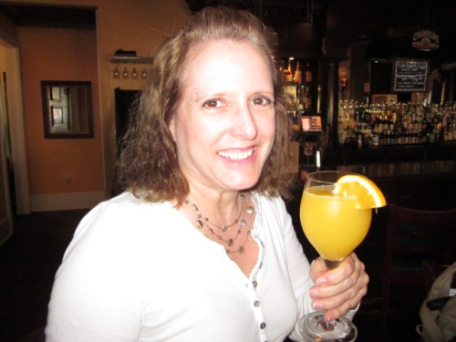 Birthday mimosa! Photo by Corey Rickrode