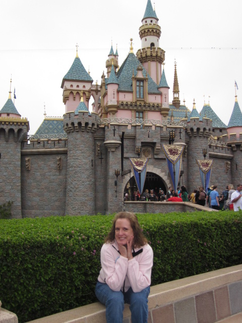 A princess and her castle. Photo by C. Rickrode.
