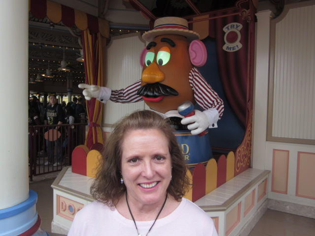 Me and Mr. Potato Head. Photo by C. Rickrode