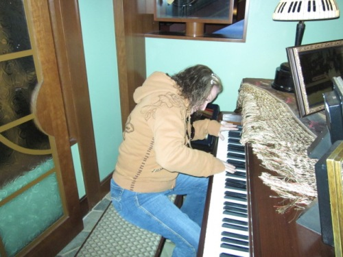 My home of the future, complete with self-playing piano. Photo by C. Rickrode