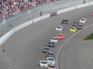 Nascar race at the Las Vegas Speedway. Photo by P. Rickrode