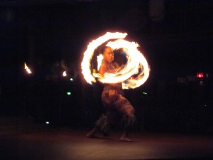 Fire dancer - Polynesian Resort - Walt Disney World - 2011