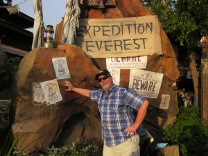 My sweetie pie after his first ride on Expedition Everest - Animal Kingdom Park - Walt Disney World - 2012