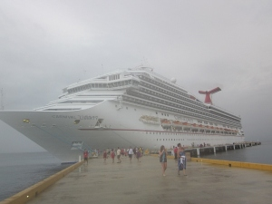 Carnival Liberty docked at Cozemel, Mexico. Original photo by P. Rickrode