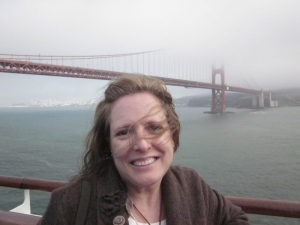 P. Rickrode and the Golden Gate Bridge. Photo by C. Rickrode 2014.