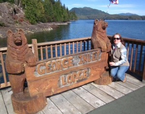 P. Rickrode at the George Inlet Lodge. Ketchikan, Alaska. Photo by C. Rickrode 2014.