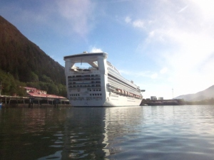 The Star Princess docked at Juneau, Alaska. Photo by P. Rickrode 2014