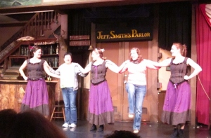"P. Rickrode and the cast of the ""Days of '98"" show (Gold Rush Productions) - Skagway, Alaska. Photo by C. Rickrode 2014"