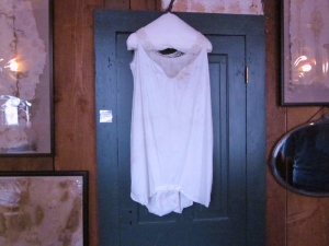 """Working girl"" attire. Red Onion Saloon, Skagway, Alaska. Photo by P. Rickrode, September 2014."