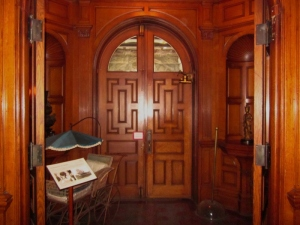 Porte-cochere entrance, original main entrance of Craigdarroch Castle, which was actually on the side of the house. Victoria BC. Photo by P. Rickrode September 2014.