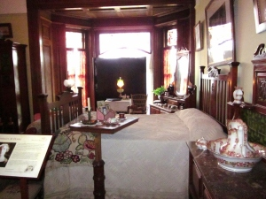 A guest room at Craigdarroch Castle, Victoria BC. Photo by P. Rickrode September 2014.