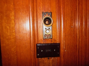 "The ""speaking tube"" intercom system in Craigdarroch Castle, Victoria BC. Photo by P. Rickrode September 2014."