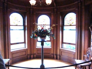 Beautiful stained glass windows. Craigdarroch Castle, Victoria BC. Photo by P. Rickrode September 2014.