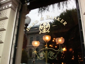 Baird & Banker, a Scottish Pub in Victoria, BC. Photo by P. Rickrode September 2014.