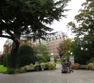 Empress Hotel, Victoria BC. Photo by P. Rickrode 2014.