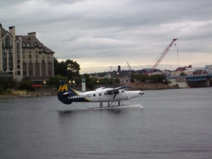 The sea plane taxi. Victoria BC. Photo by P. Rickrode September 2014.