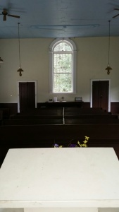 View from the pulpit - Rocky Springs Church. Photo by P. Rickrode, August 2015.