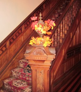 The newel post. Photo by P. Rickrode, November 2015
