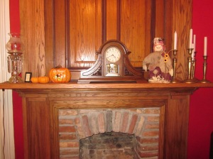Grand ballroom mantel. Photo by P. Rickrode, November 2015