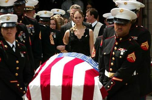 flag on coffin