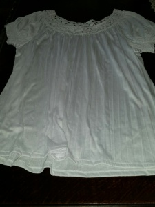 left behind white blouse