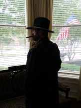 Curt Fields as Ulysses S. Grant. Photo by P. Rickrode, July 4, 2016 @ Baer-Williams House