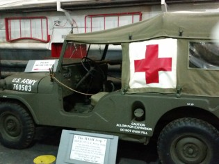 Original Jeep used on the show MASH. (Original photo by P. Rickrode.)