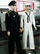 Original uniforms from LST 325 crew. (Original photo by P. Rickrode.)