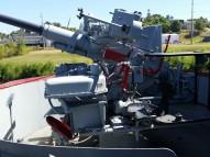 40 mm Bofor Gun mount, LST 325. (Original photo by P. Rickrode.)