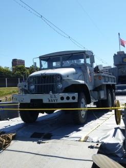 Original heavy duty hauling/transport truck, LST 325. (Original photo by P. Rickrode.)
