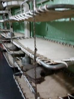 Original troop berthing racks, LST 325. (Original photo by P. Rickrode.)