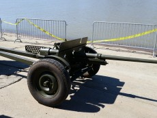 Original gun wagon from LST 325. (Original photo by P. Rickrode.)