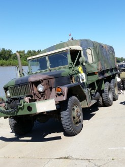 Army vehicle used on board the LST 325. (Original photo by P. Rickrode.)