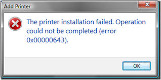 printer error message