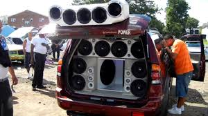 boom box in car
