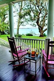 tea on porch