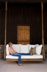 woman in porch swing
