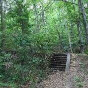 stairs on hillside