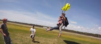 sky dive landing
