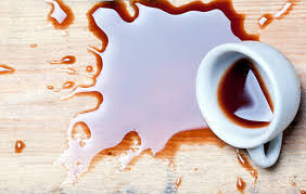 spilled coffee