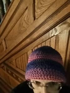 me in crochet hat