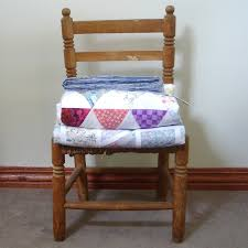 quilt on chair