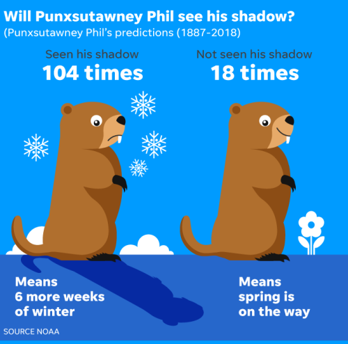 groundhog predictions
