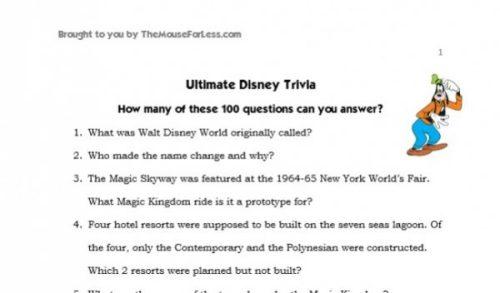 Disney trivia slide