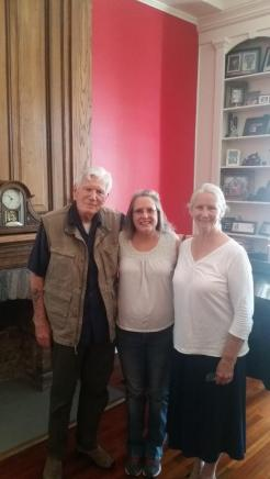Mitchell and Barbara Ryan with Patricia Rickrode. Photo by C. Rickrode September 2019
