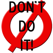 don't do it sign 2